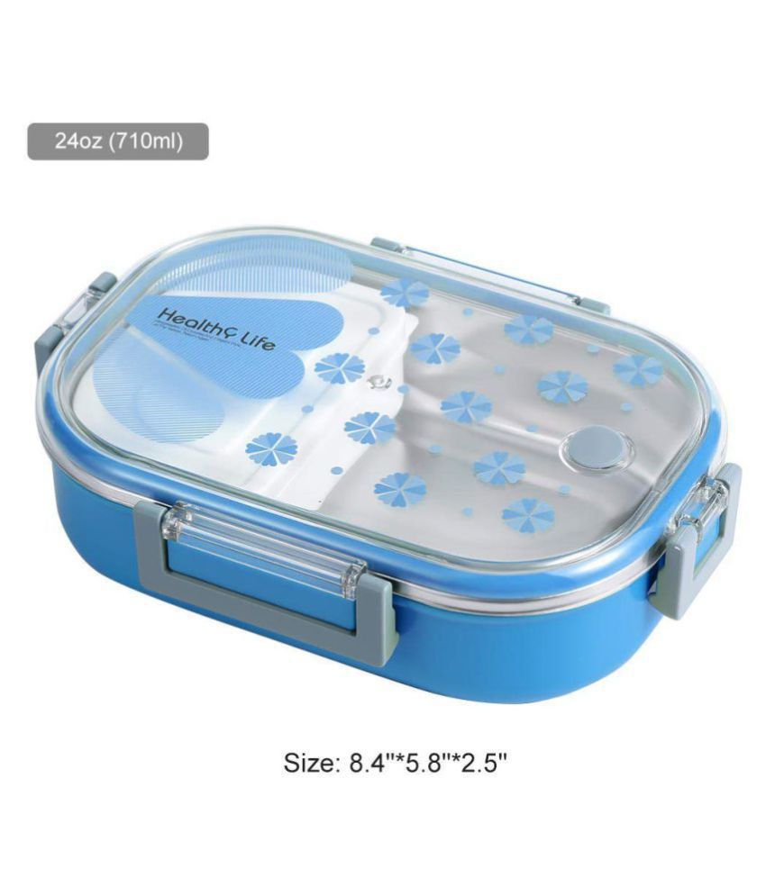 SKYLARK Blue Lunch Box