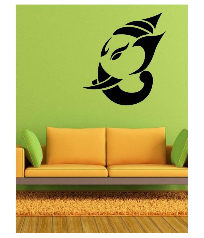 Allure Genesh JI Religious & Inspirational Sticker ( 70 x 60 cms )