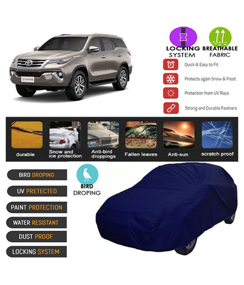 Goldkart Car Body Cover for Toyota New Fortuner [2016] Blue