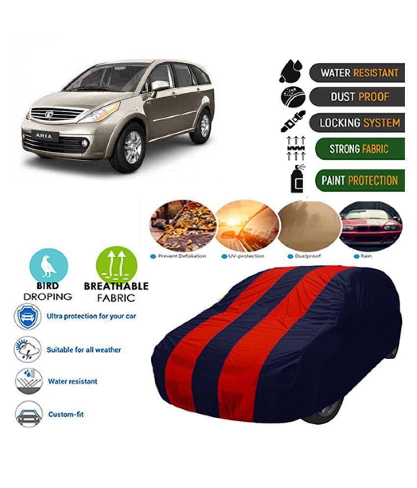 Goldkart Car Body Cover for Tata Aria [2014-2015] Maroonblue