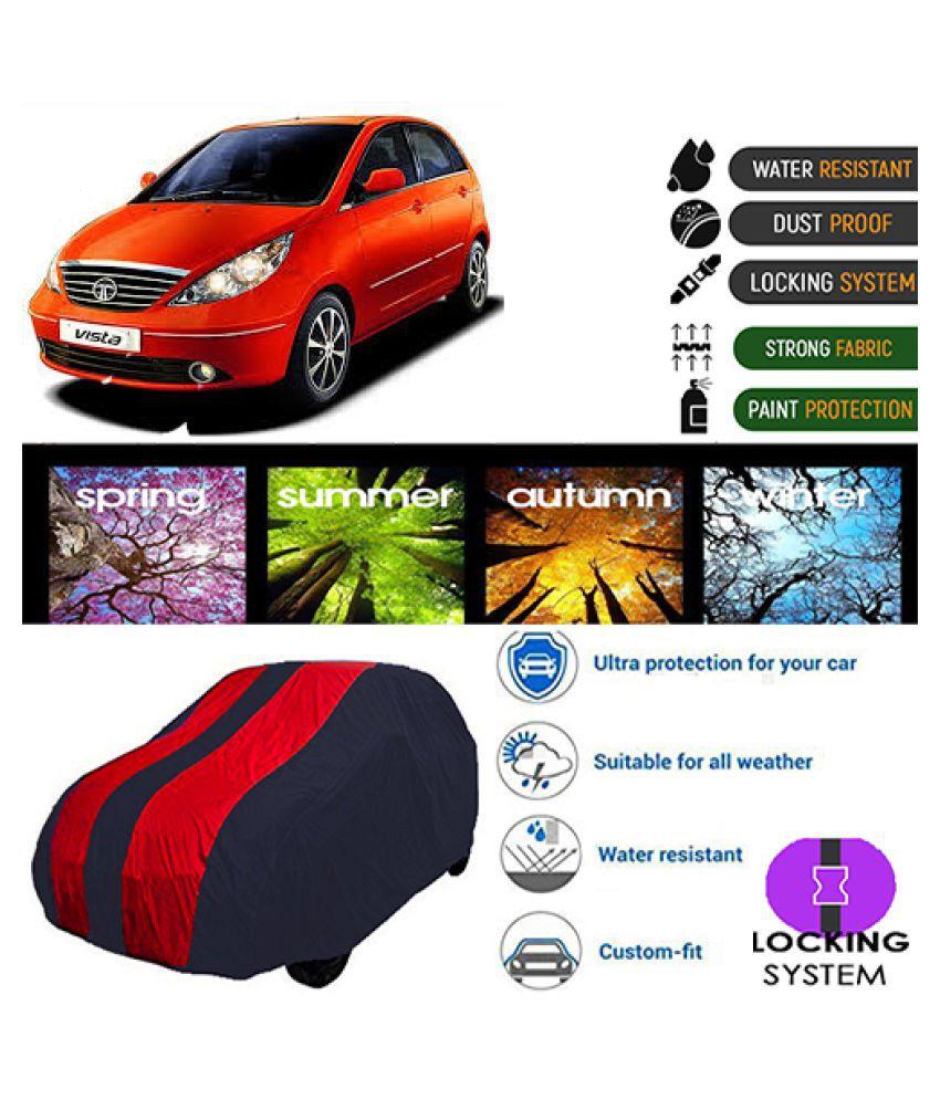 Goldkart Car Body Cover for Tata Indica Vista [2012-2014] Maroonblue