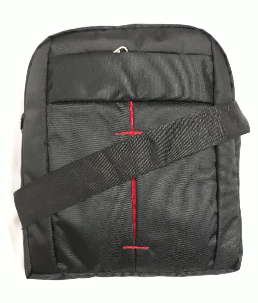EMACITY Black Polyester Casual Messenger Bag