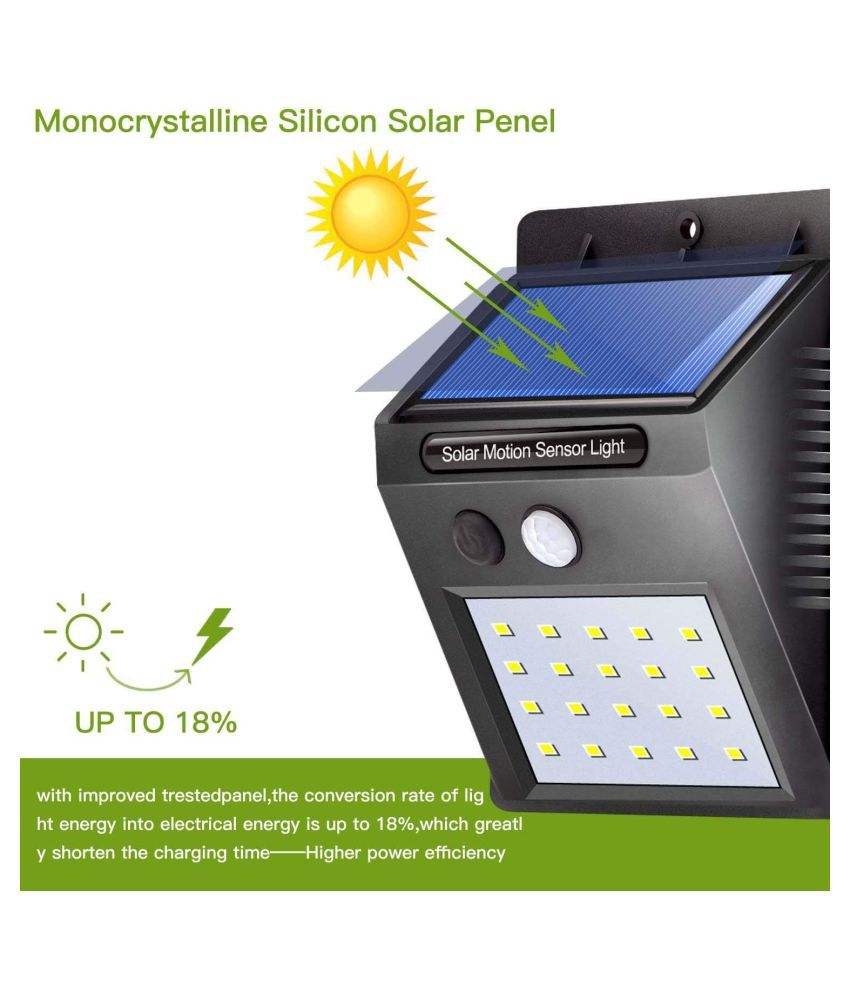 Divyanent 5W Solar Outdoor Wall Light - Pack of 1
