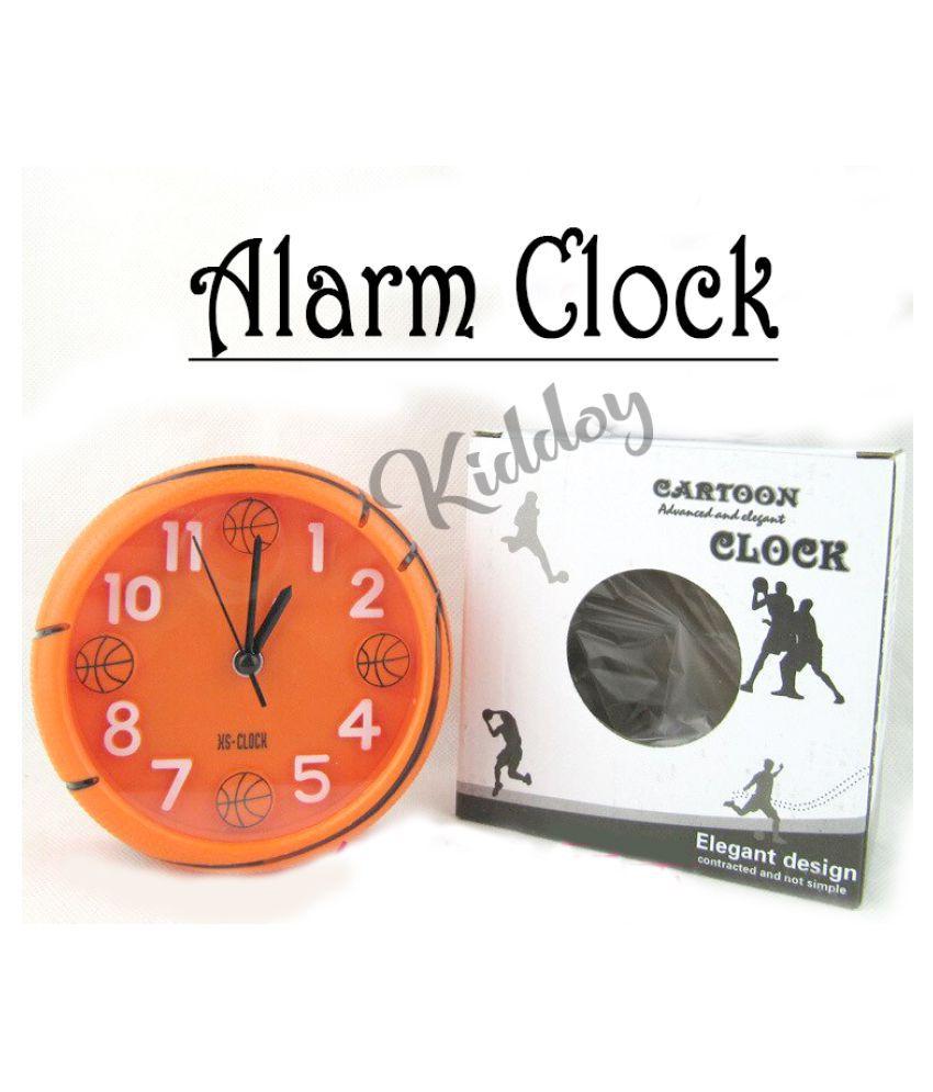 KiDDoY Basketball Alarm Clocks Football Shaped Desktop Table Home Decoration Football Sports Fans