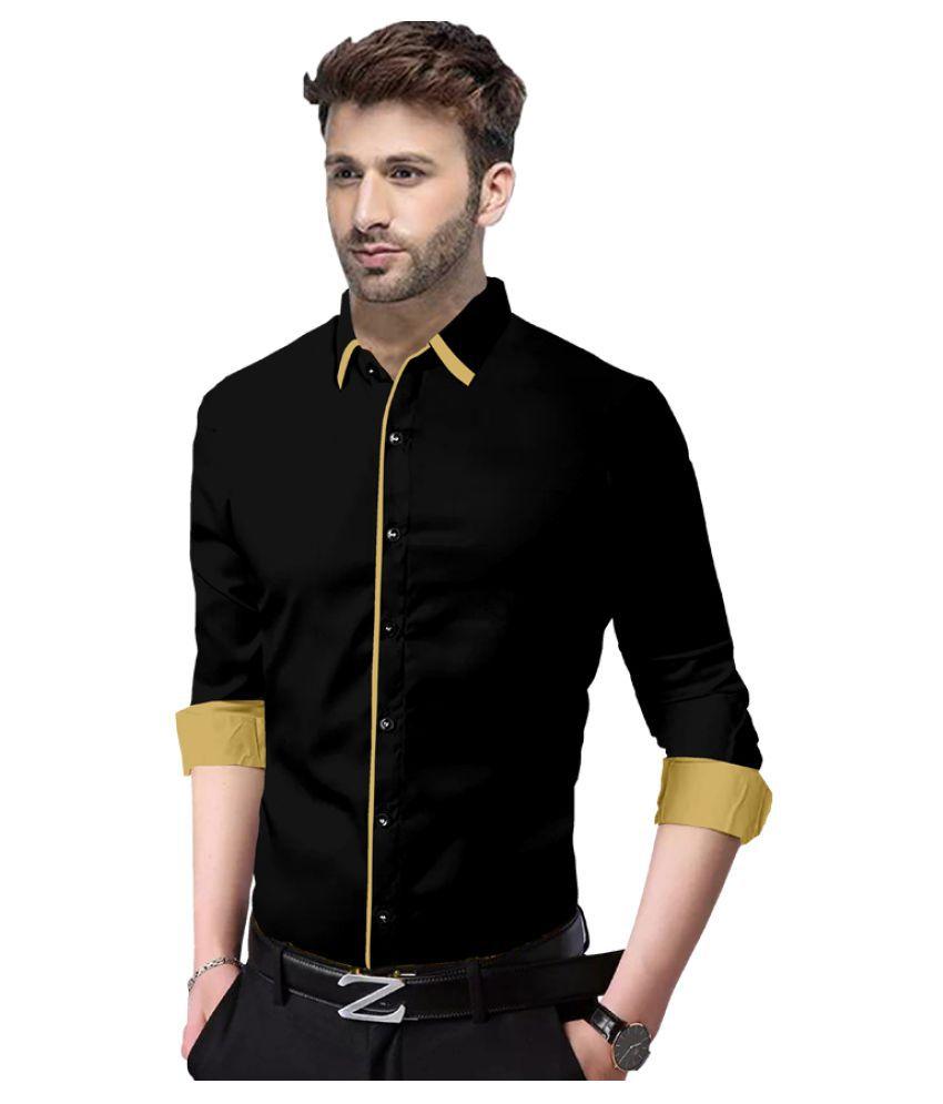 SUR-T 100 Percent Cotton BLACK Solids Shirt
