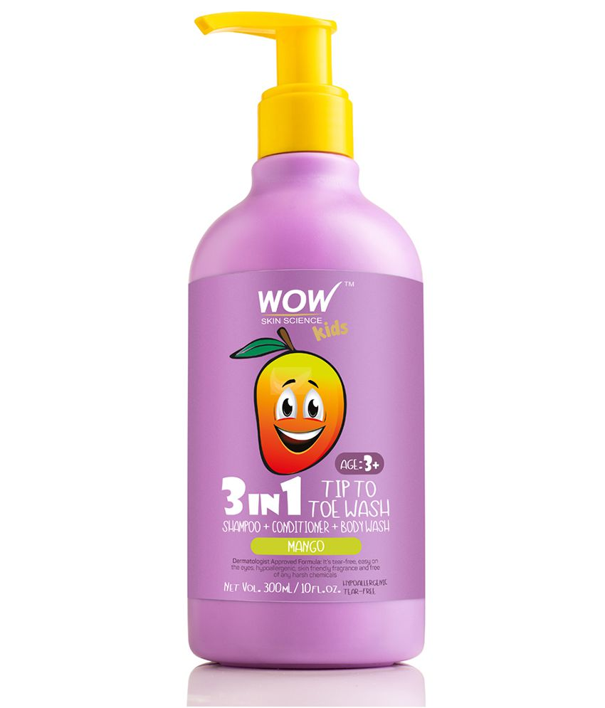 Wow Skin Science Kids 3 In 1 Tip To Toe Wash Mango Shampoo 300 Ml Buy Wow Skin Science Kids 3 In 1 Tip To Toe Wash Mango Shampoo 300 Ml At Best Prices In India Snapdeal