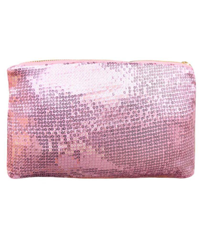 Women Clutch Dazzling Sequins Glitter Sparkling Handbag Evening Bag Pink