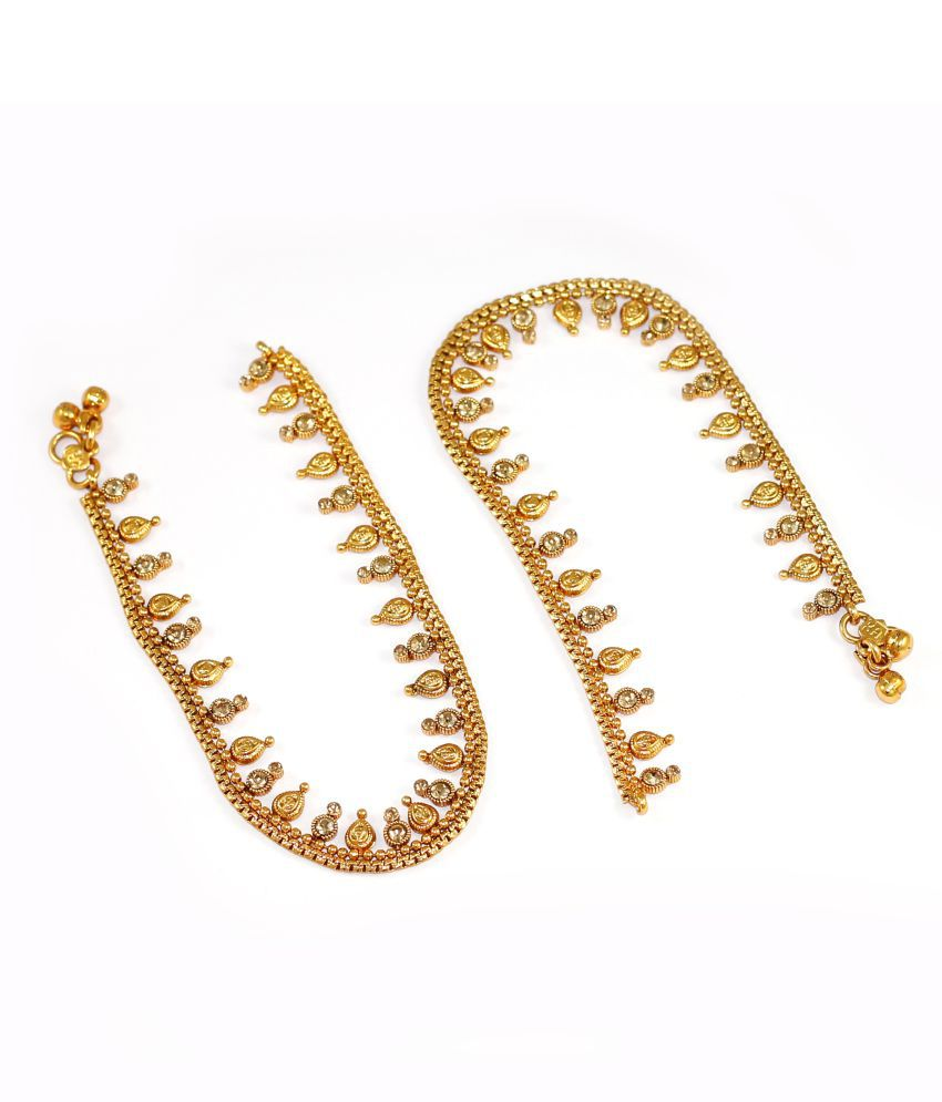 Fusion Indian Stone Studded Wedding Payal Anklets