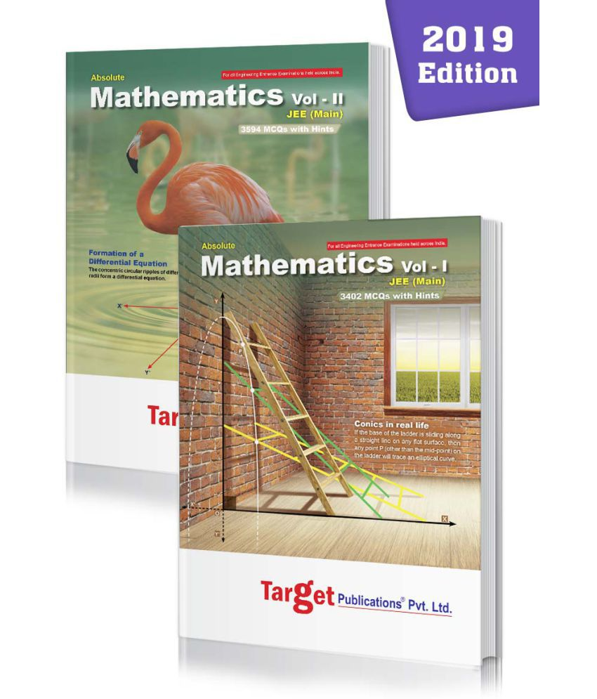 JEE Mains Absolute Maths Books Vol 1 and 2 Combo for 2020 Engineering Entrance Exam | Chapterwise MCQs with Solutions | Topicwise Tests for Practice | Best Study Material for JEE Preparation | 2 Books
