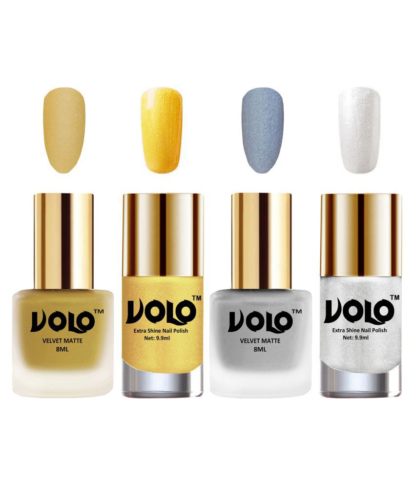 VOLO Extra Shine AND Dull Velvet Matte Nail Polish Red