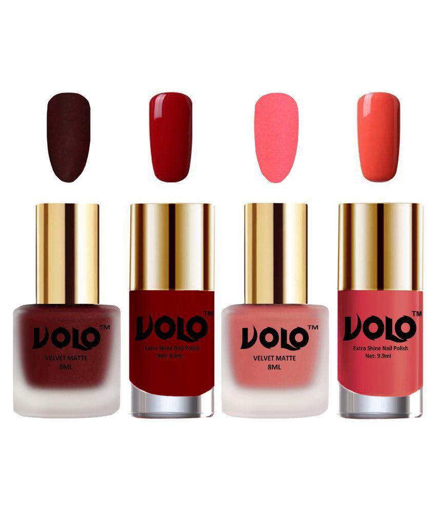 VOLO Extra Shine AND Dull Velvet Matte Nail Polish Gold