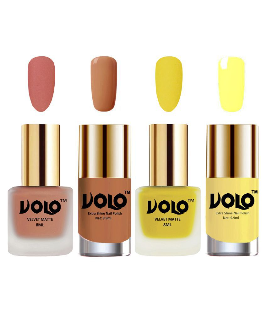 VOLO Extra Shine AND Dull Velvet Matte Nail Polish Nude