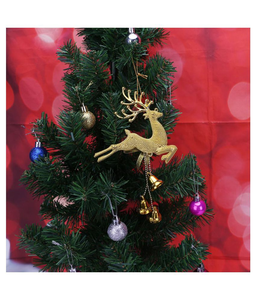 Christmas Tree In India.Home Christmas Tree Ornaments Deer With Bells Hanging Pendant Decoration