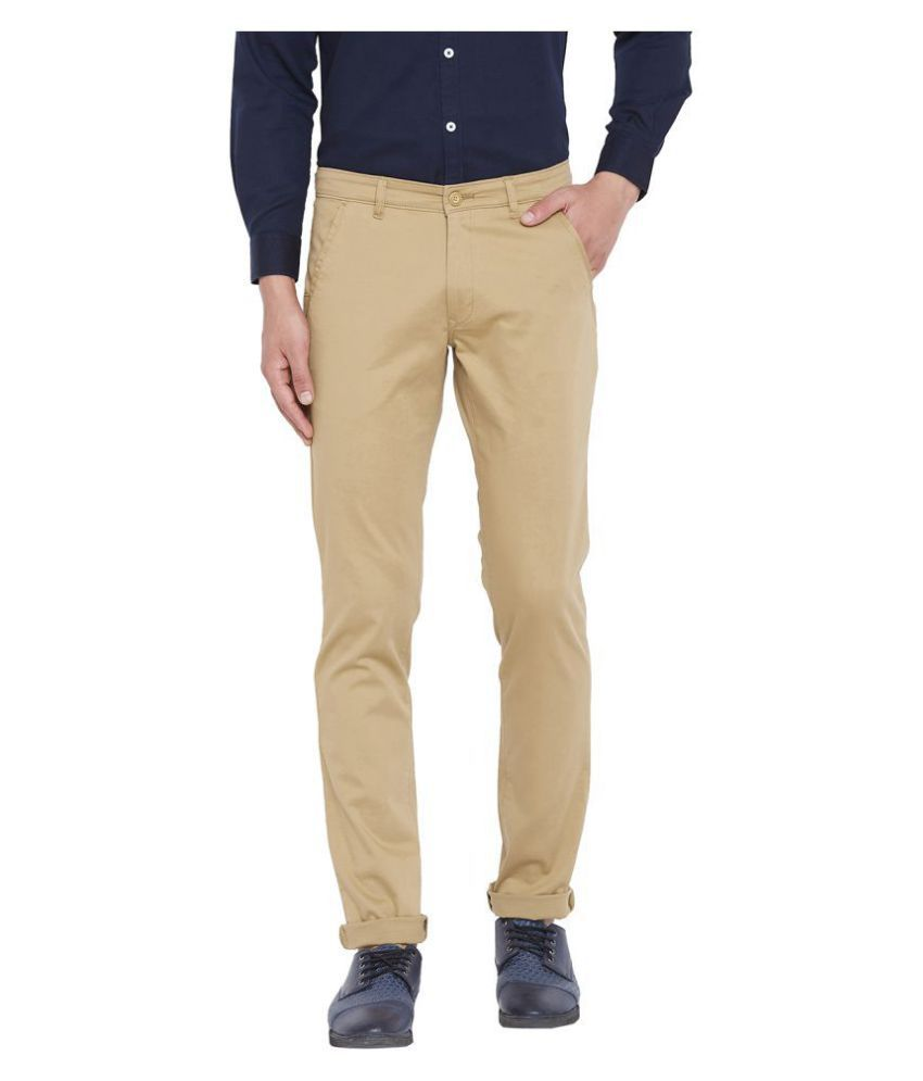 Canary London Khaki Slim -Fit Flat Chinos