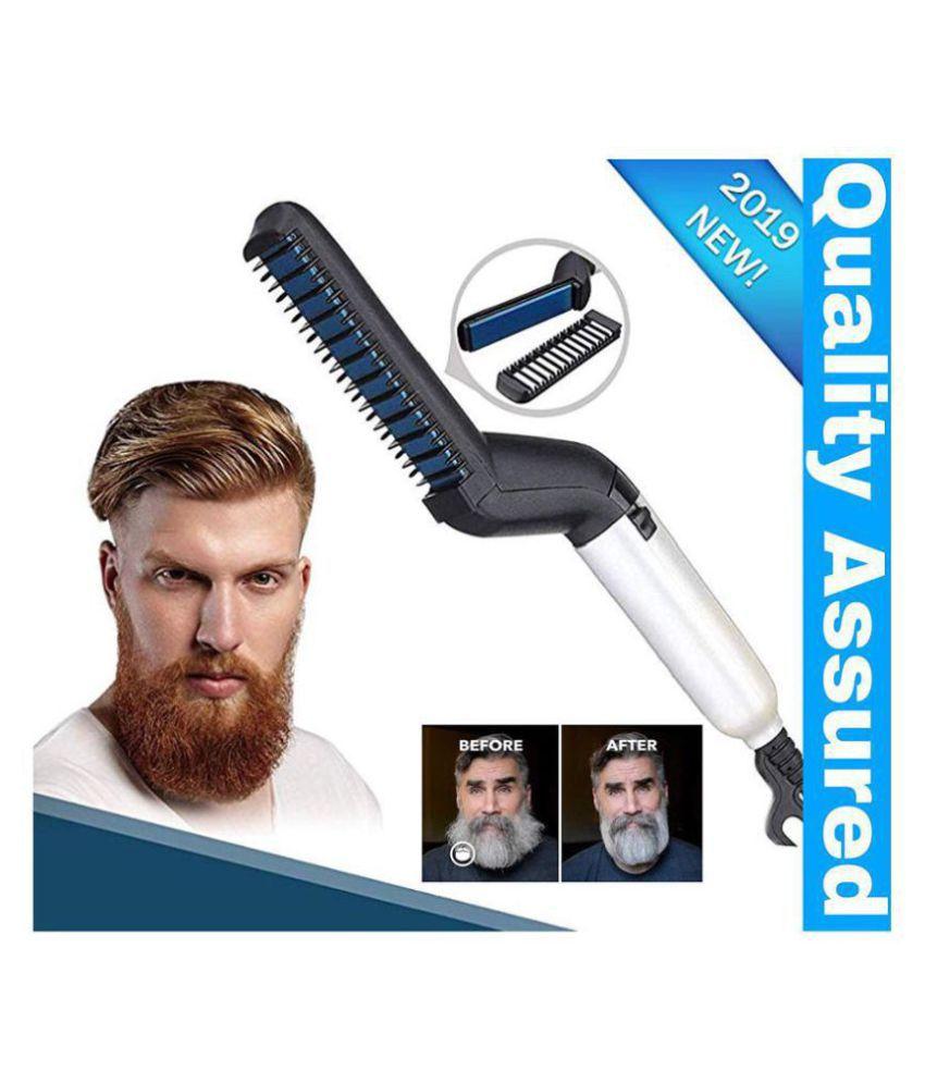 Devam Beard Modelling Comb Hair Straightener ( WHITE )