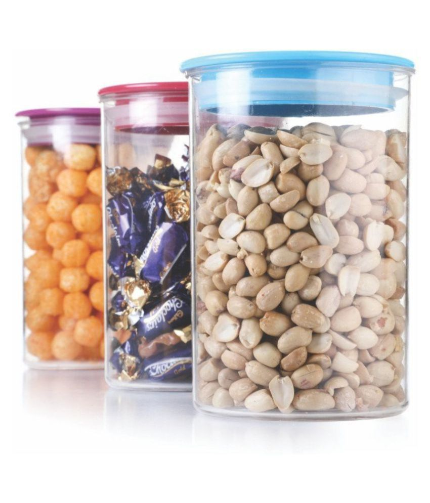 Kkart Air Tight PET Food Container Set of 3 900 mL