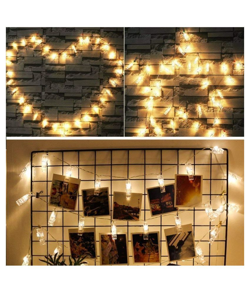 new product 9e357 e20b0 Photo Clip String Lights Photo Peg Clip String Light Party Wedding  Decoration
