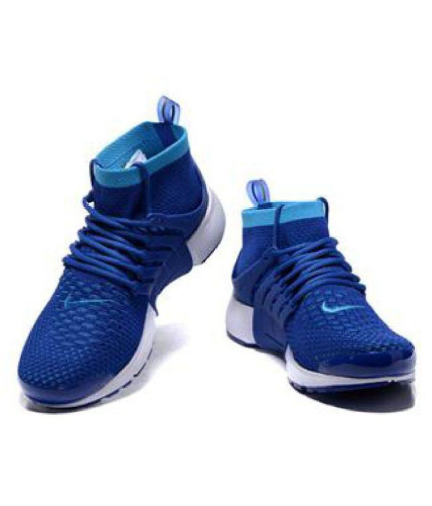 nike presto blue running shoes