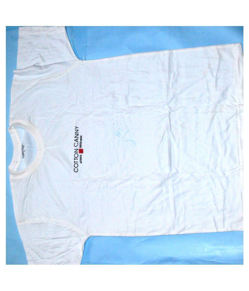 HPT 100 Percent Cotton White Printed T-Shirt