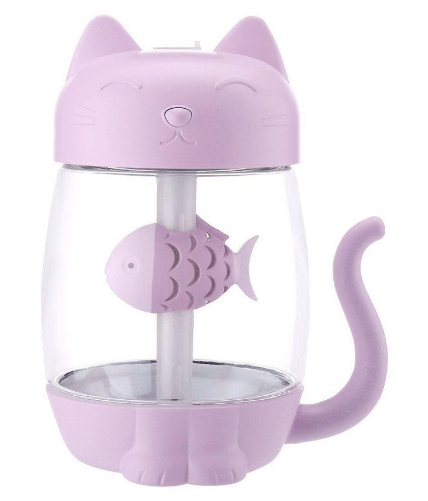 3 In 1 Humidifier Cute Cat LED Humidifier Air Fan Diffuser Purifier Atomizer