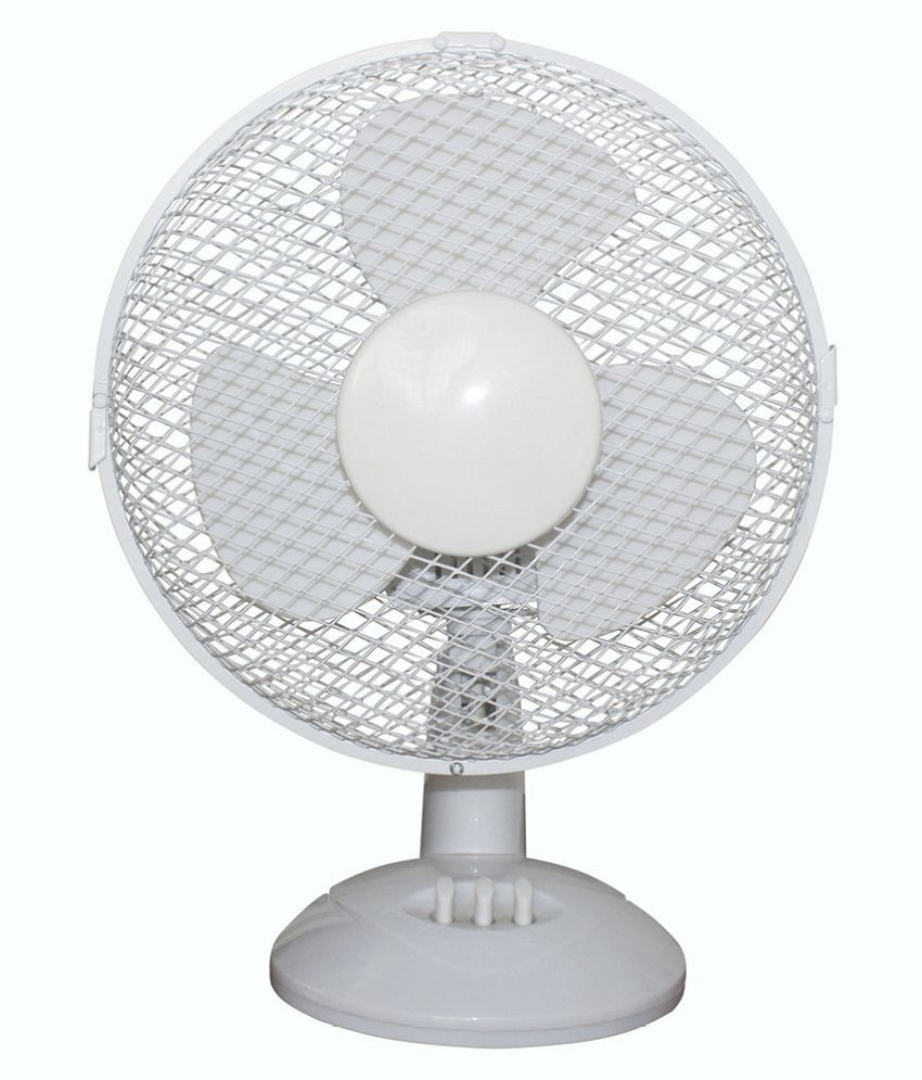 Electrical 2-Speed Oscillating Desk Top Fan, 9-Inch, White