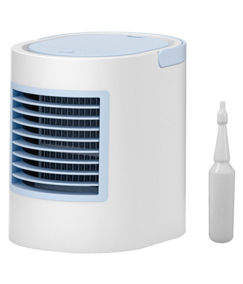 Mini Air Cooler Mobile Air Conditioner Quiet Desk Fan With Multicolor Light