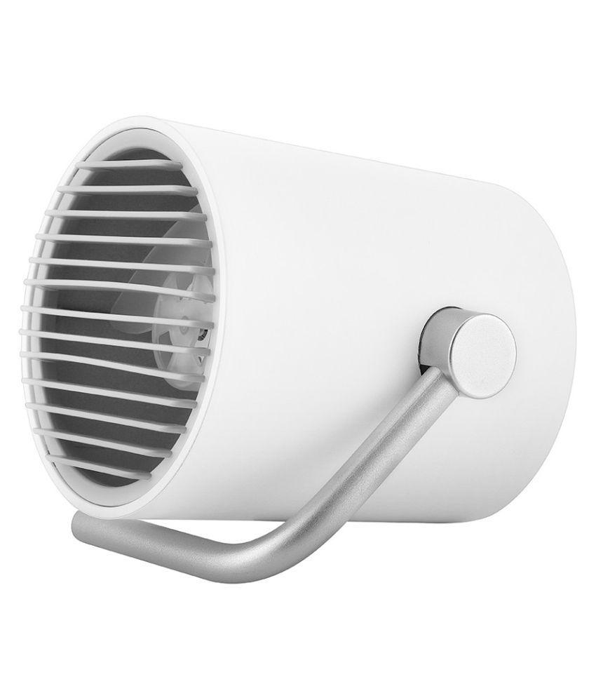 Mini Portable USB Fan Double Fans Adjustable Ultra Quiet Desktop Cooler