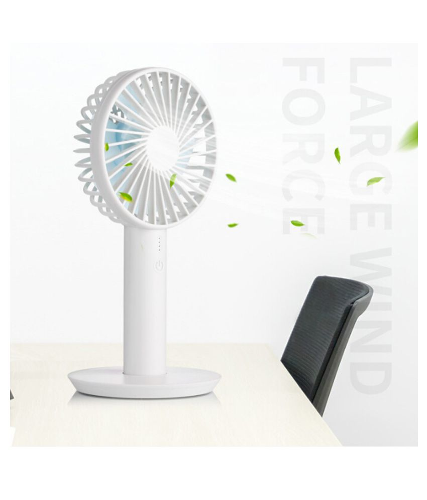 Portable Mini Fan With Display Screen USB Rechargeable Hand-held Cooling Fan