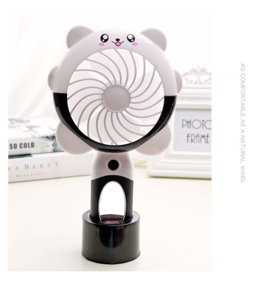 Rechargeable USB Fan Mini Operated Hand Held Fan Light Lamp Protable
