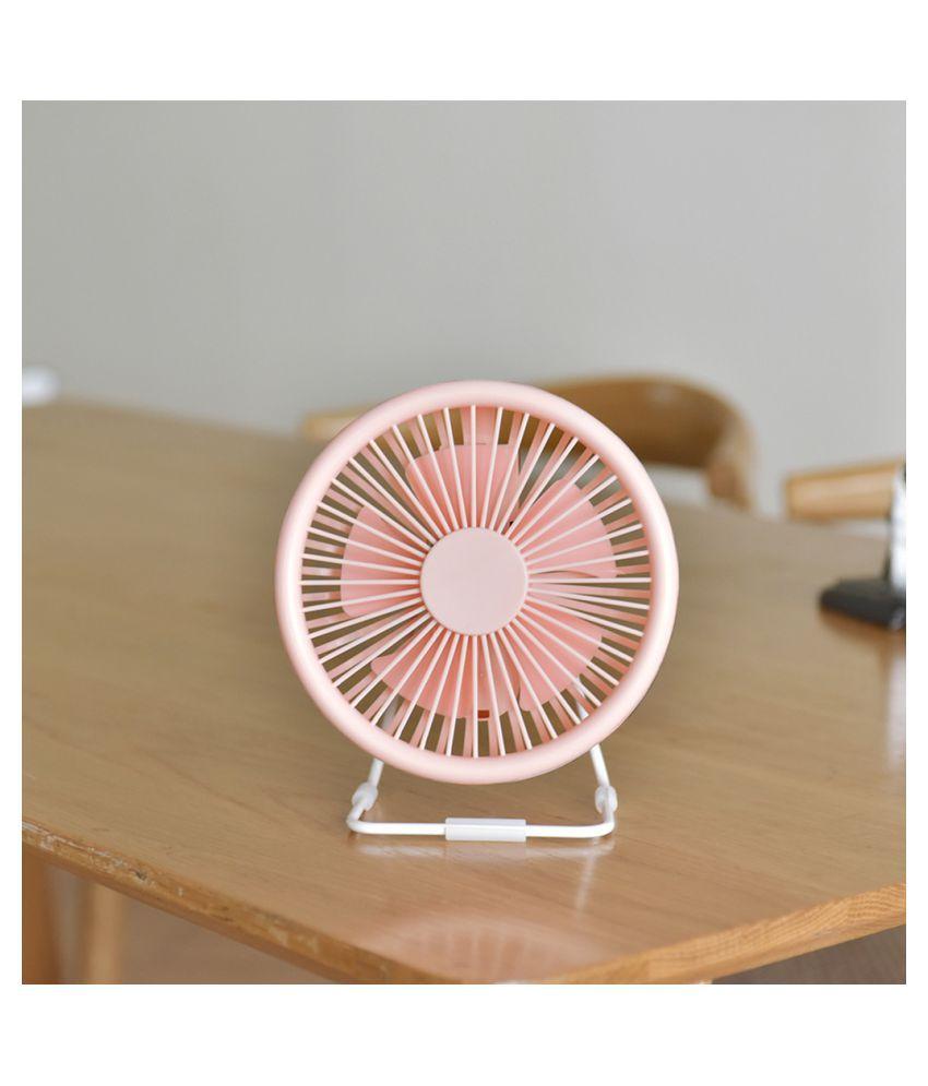 Small Desk USB Fan 5 Blades Cooler Cooling Fan USB Mini Fan Computer Opera
