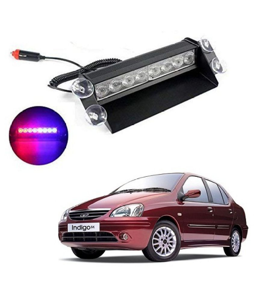 Neen Traders tata Indigo SX Waterproof 8 LED Red Blue Police Flashing Light for All Cars