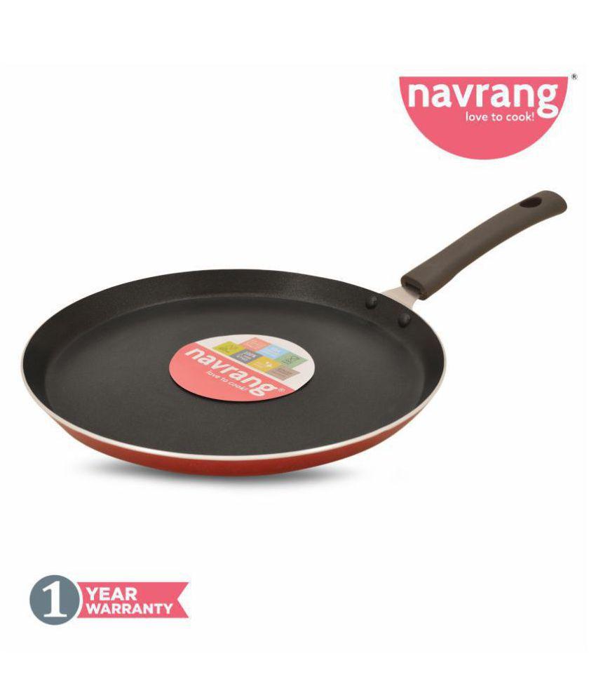 Navrang Non Stick Aluminium 26cm Dosa/Flat Tawa