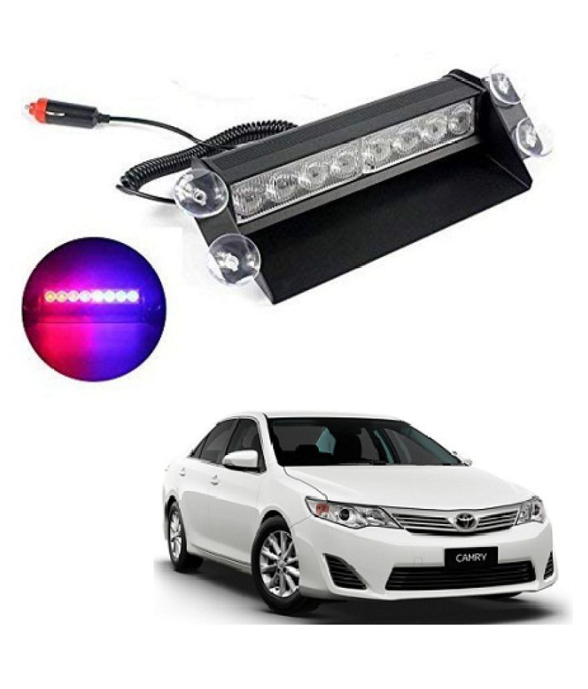 Neen Traders Toyota Camry 2012 Waterproof 8 LED Red Blue Police Flashing Light for All Cars