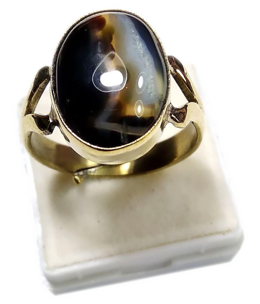 PRIYANSHU NAVARATN Panch Dhatu Panch Dhatu Agate Ring