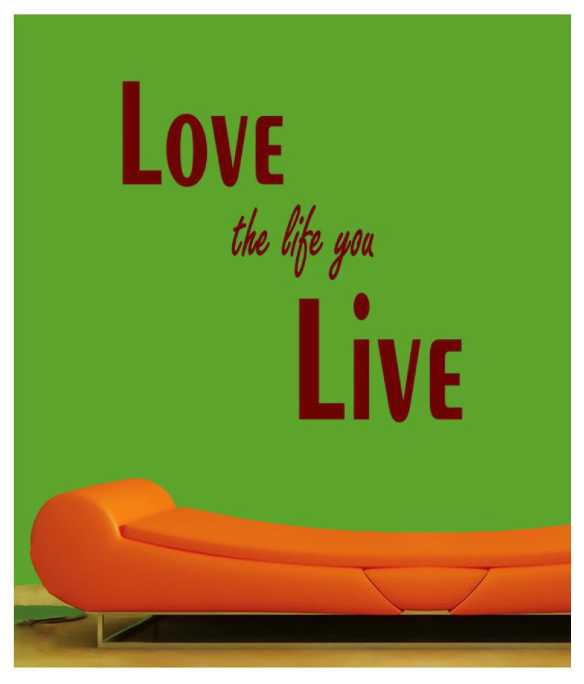 Ritzy Love the Life Wall Quotes Decal Motivational Quotes Sticker 30 x 60 cms
