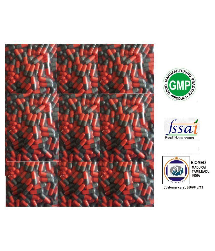 BioMed Empty Gelatin Capsules 1 Red/ Grey 1000 Capsule 1000 no.s