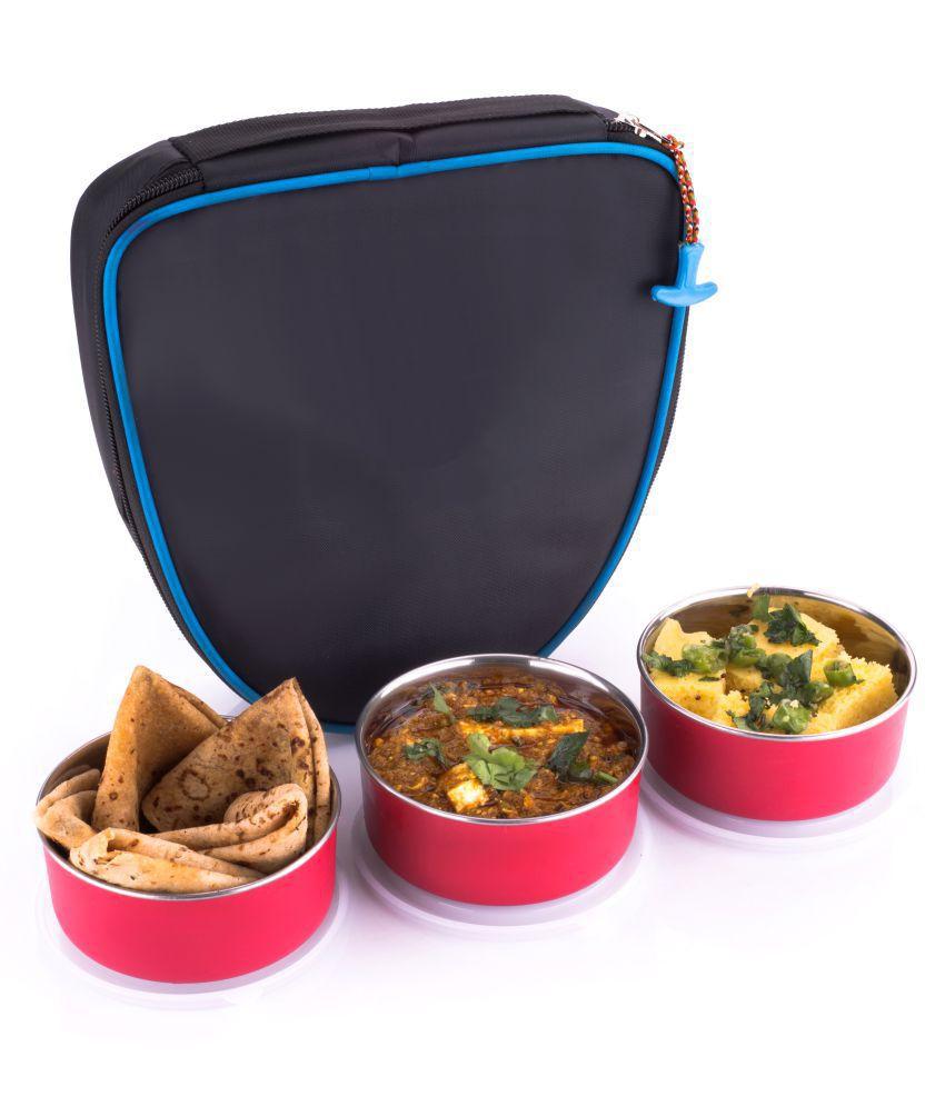 analog kichenware Pink Stainless Steel Lunch Box