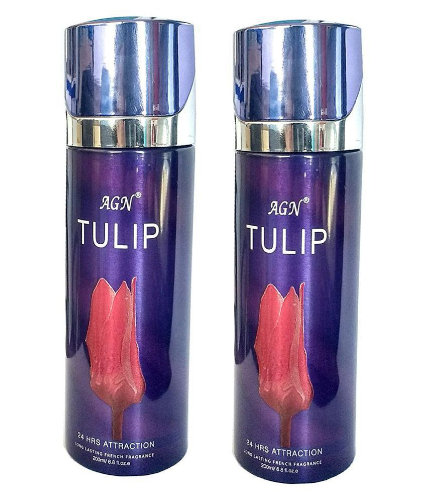 AGN Tulip Combo Deodorant Body Spray 200ml (Pack Of 2 )