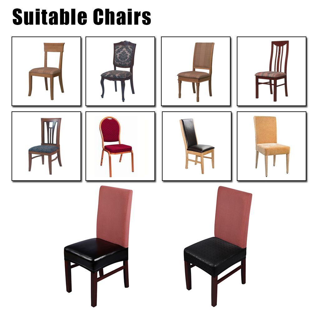 Cocoshope Sofa Covers 2pcs Pu Leather Stretchable Dining Chair Seat Covers Waterproof Oilproof Dustproof Ceremony Chair Slipcovers Protectors Black Lace Buy Cocoshope Sofa Covers 2pcs Pu Leather Stretchable Dining Chair Seat Covers
