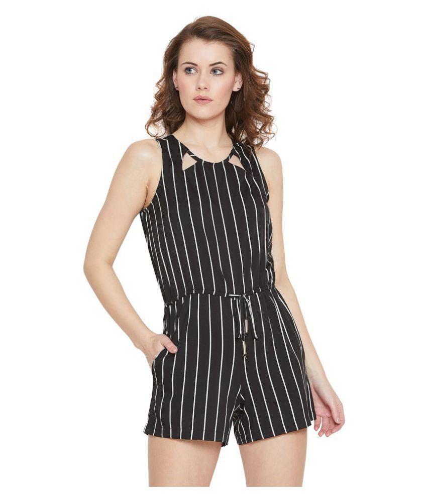 Purys Black Polyester Jumpsuit