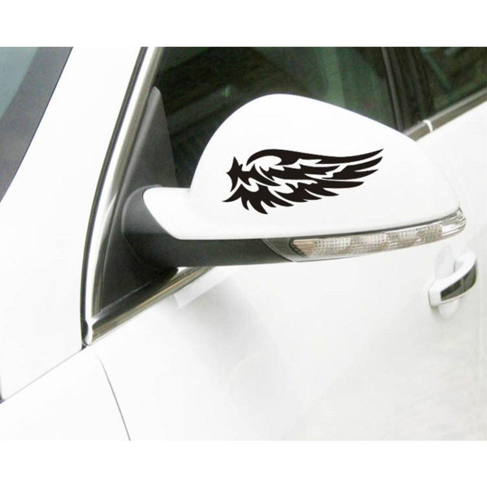 2pcs Car Window Sticker Funny Personality Rear View Mirror
