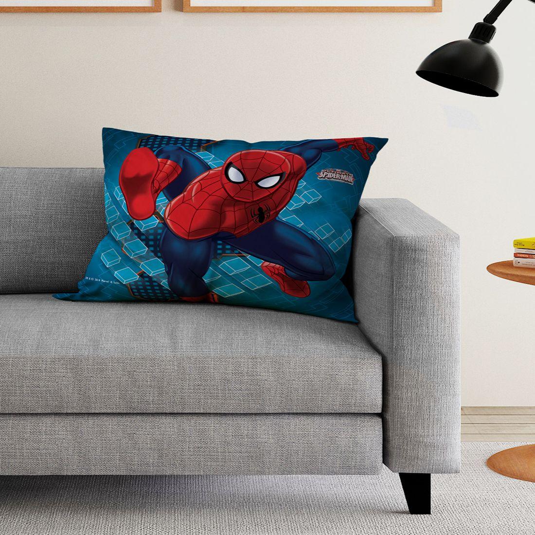 Marvel Single Blue Polyester Filled Cushion