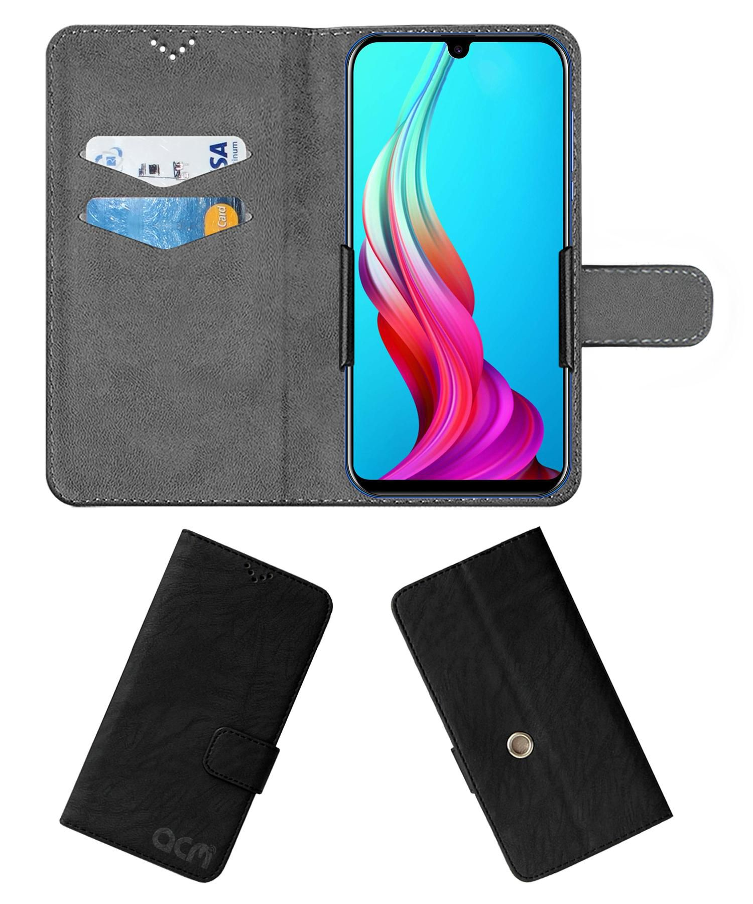 COOLPAD COOL 3 PLUS Flip Cover by ACM - Black Clip holder to hold your mobile securely
