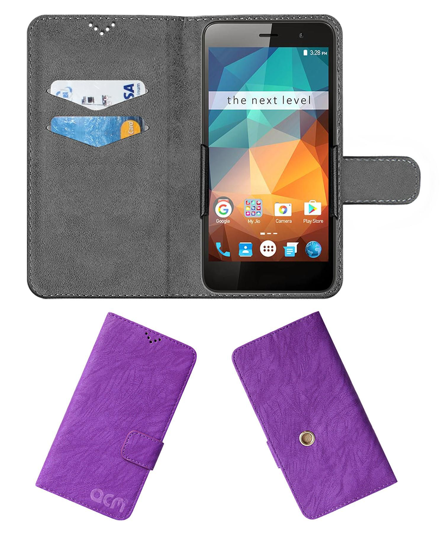 Xolo Era 2X (3 GB RAM) Flip Cover by ACM - Purple Clip holder to hold your mobile securely