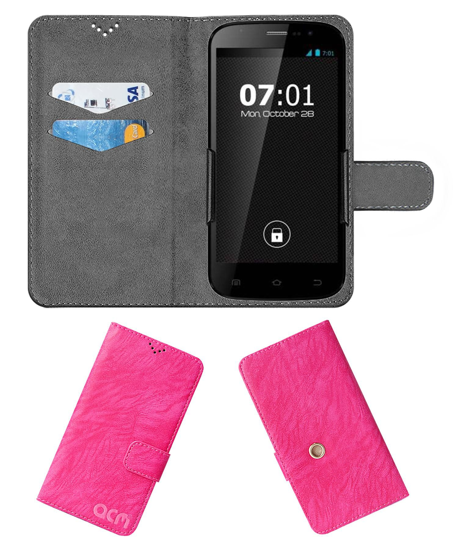 Zen Ultrafone 701 FHD Flip Cover by ACM - Pink Clip holder to hold your mobile securely
