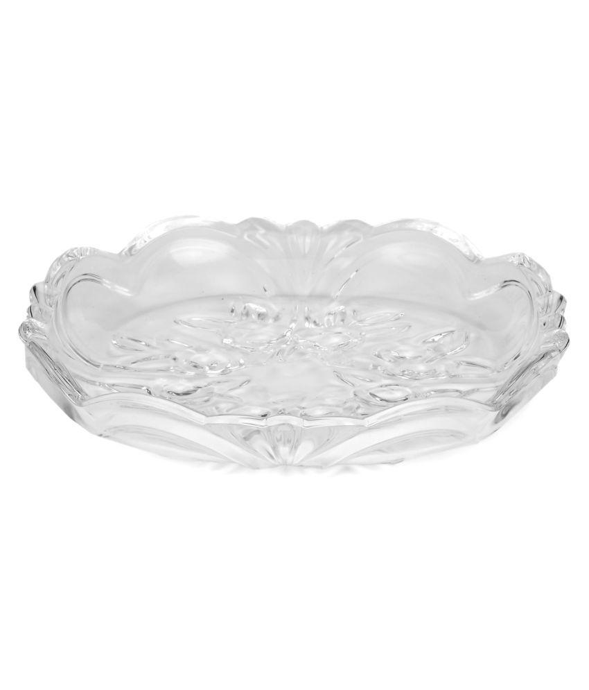 Somil 1 Pcs Glass Half Plate