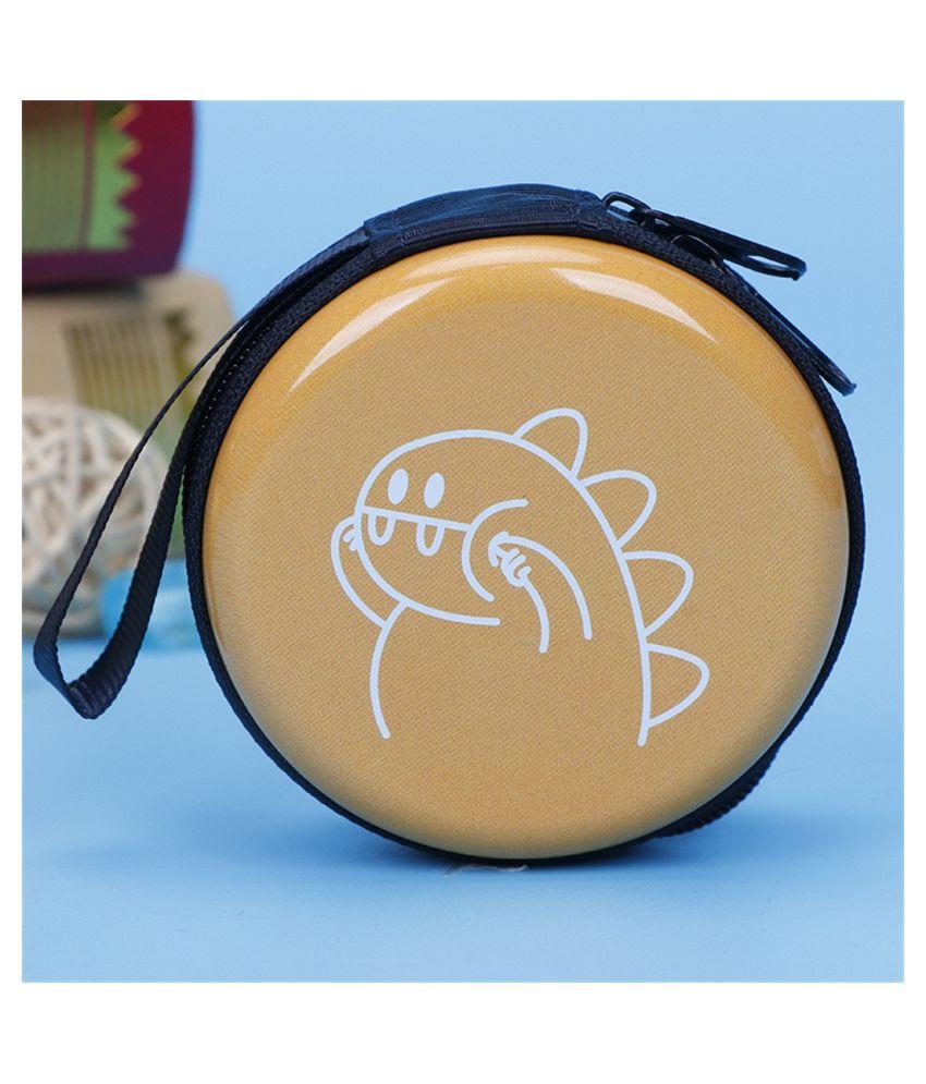 Mini Zipper Earphone Headphone Headset Box Bag SD Card Carrying Pouch Storage