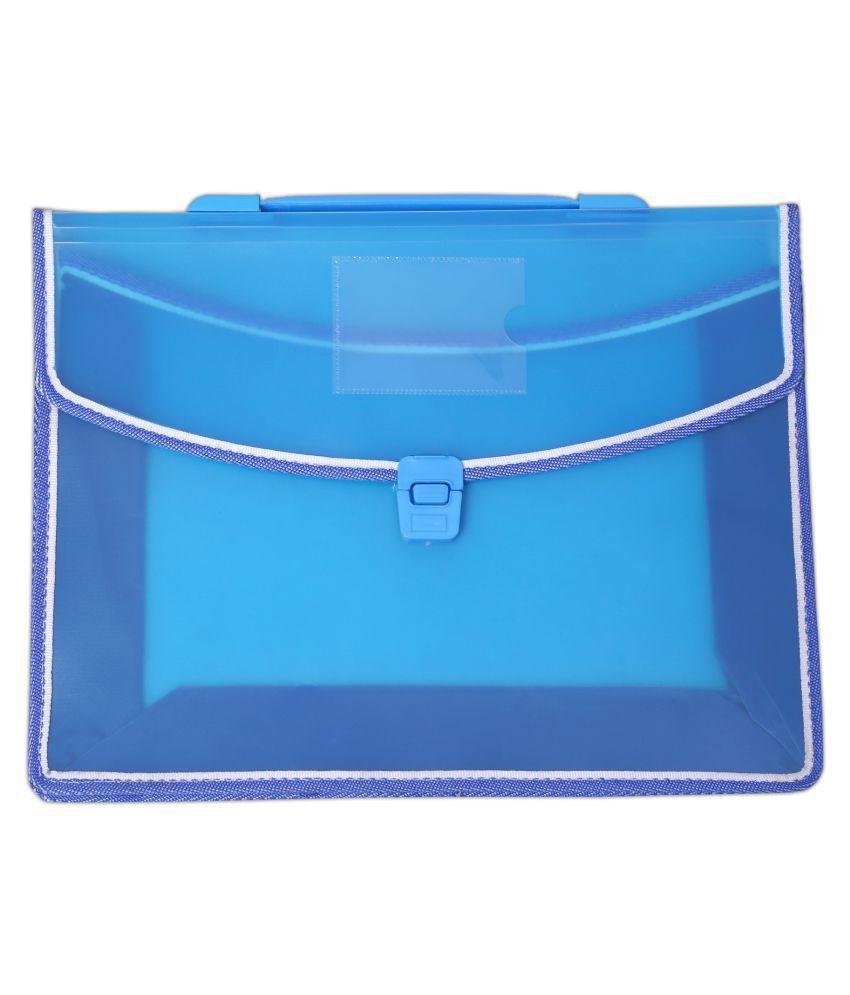 Sumo Prime  Transparent Flexi Multi Utility Fullscape Size Poly Plastic Document Bag with Snap Push Button Closure & Handle