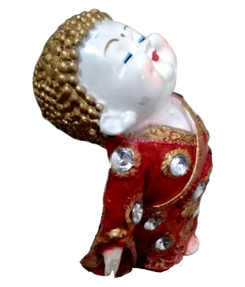 Handmade STYLISH Resin Buddha Idol 14 x 8 cms Pack of 1