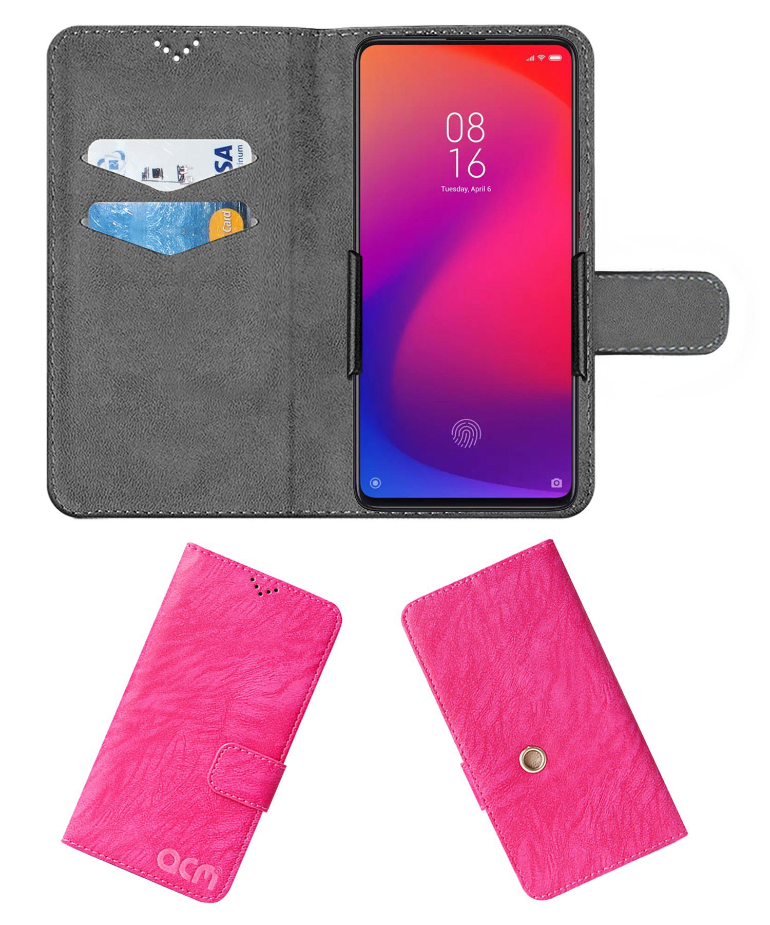 XIAOMI REDMI K20 PRO Flip Cover by ACM - Pink Clip holder to hold your mobile securely